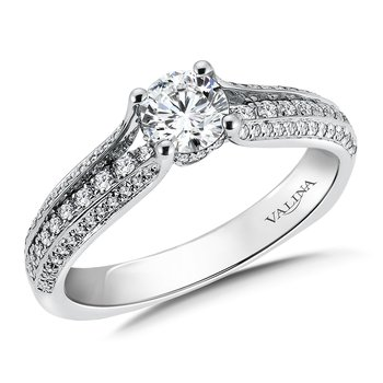 Diamond Engagement Ring Mounting in 14K White Gold (.31 ct. tw.)