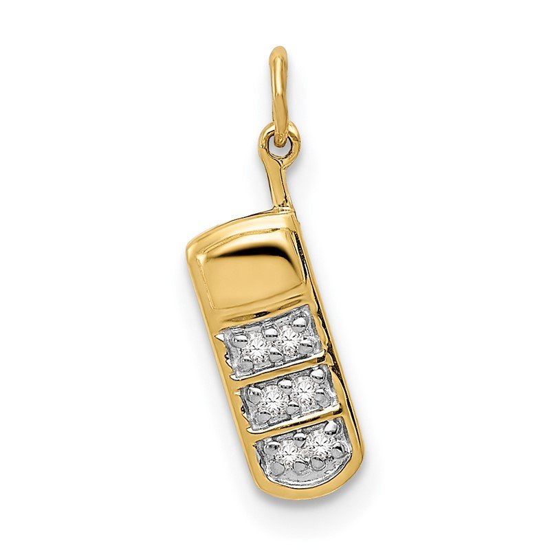 Quality Gold 14k Diamond Cell Phone Charm