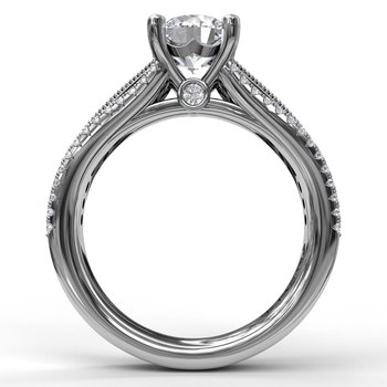 Three Row Stepped Engagement Ring
