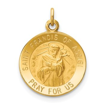 14k Saint Francis of Assisi Medal Charm