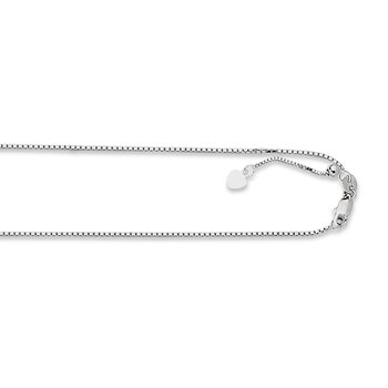 14K Gold 1.1mm Adjustable Box Chain
