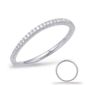 White Gold Curve Matching Band