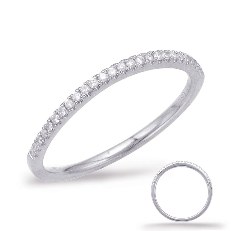 S. Kashi & Sons Bridal White Gold Curve Matching Band