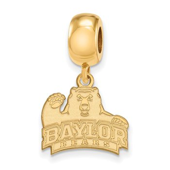 Gold-Plated Sterling Silver Baylor University NCAA Bead