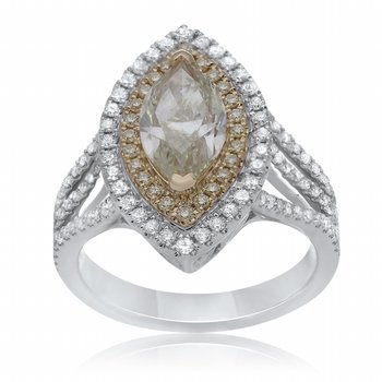 Two-Tone Marquee Diamond Ring