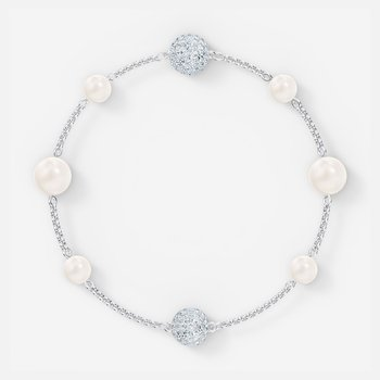 Swarovski Remix  Collection Pearl Strand, White, Rhodium plated