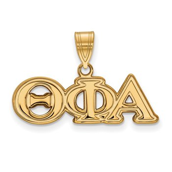 Gold-Plated Sterling Silver Theta Phi Alpha Greek Life Pendant
