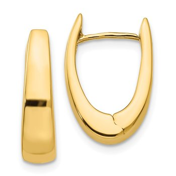 14k Polished Hinged Hoop Earrings