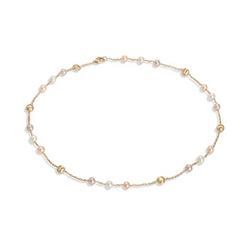 Africa Pearl Collection 18K Yellow Gold and Pearl Short Necklace