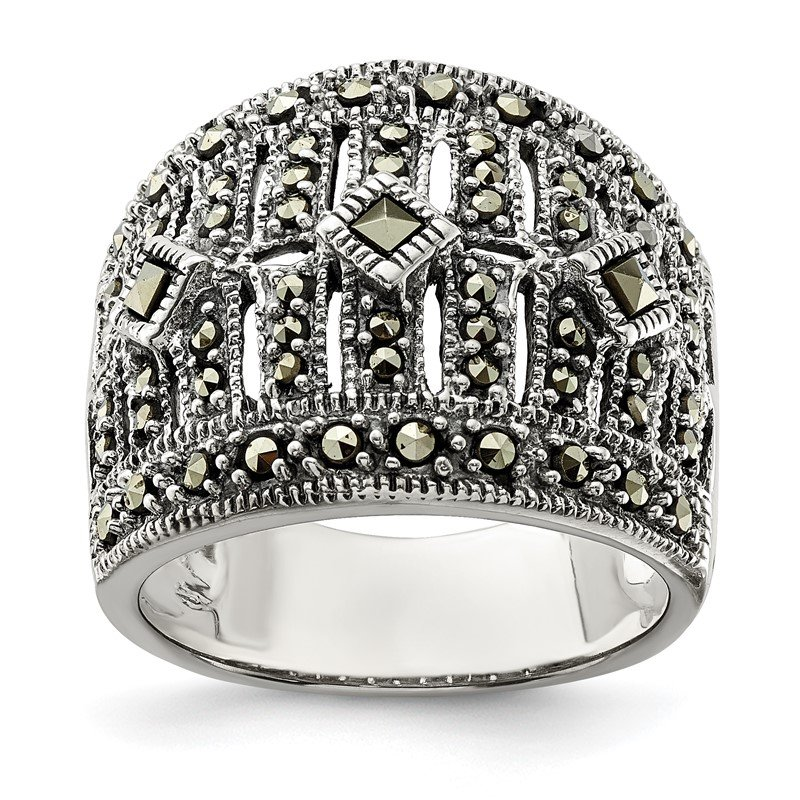 Lester Martin Online Collection Sterling Silver Marcasite Ring