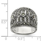 Quality Gold Sterling Silver Marcasite Ring