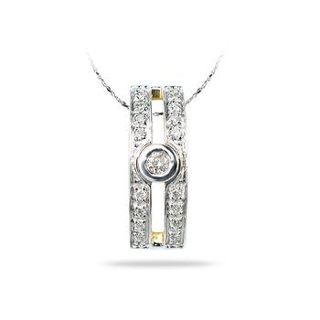 14K YG Diamond All Purpose Pendant