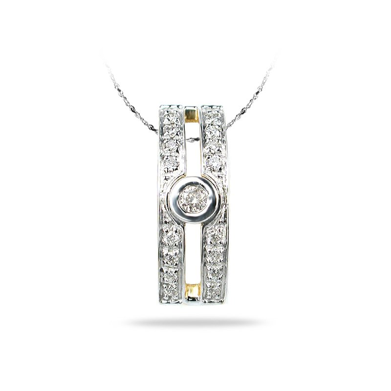 BB Impex 14K YG Diamond All Purpose Pendant