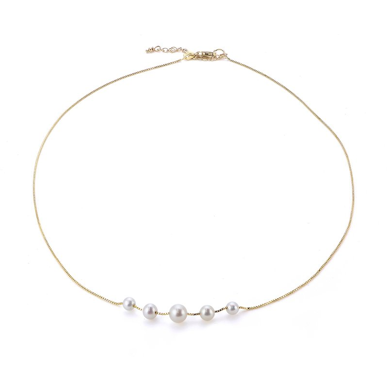 Imperial Pearl 14K Yellow Gold Freshwater Pearl Necklace