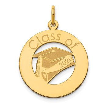 14k Personalized Graduation Charm