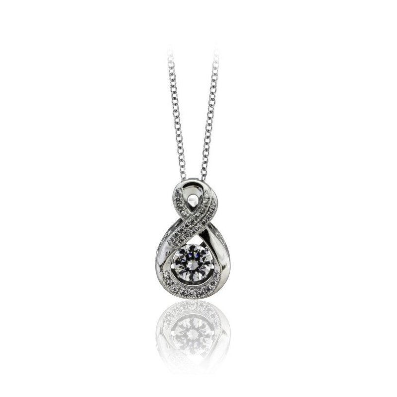 LARUS Jewelry Infinity Shimmering Stone Pendant