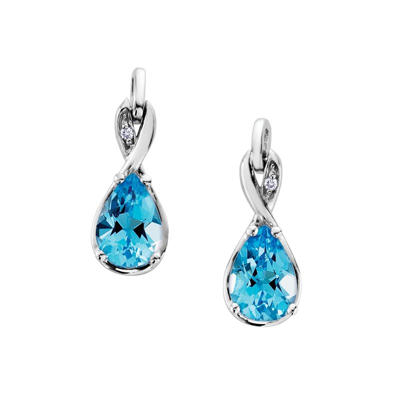 D of D Signature Blue Topaz Earrings