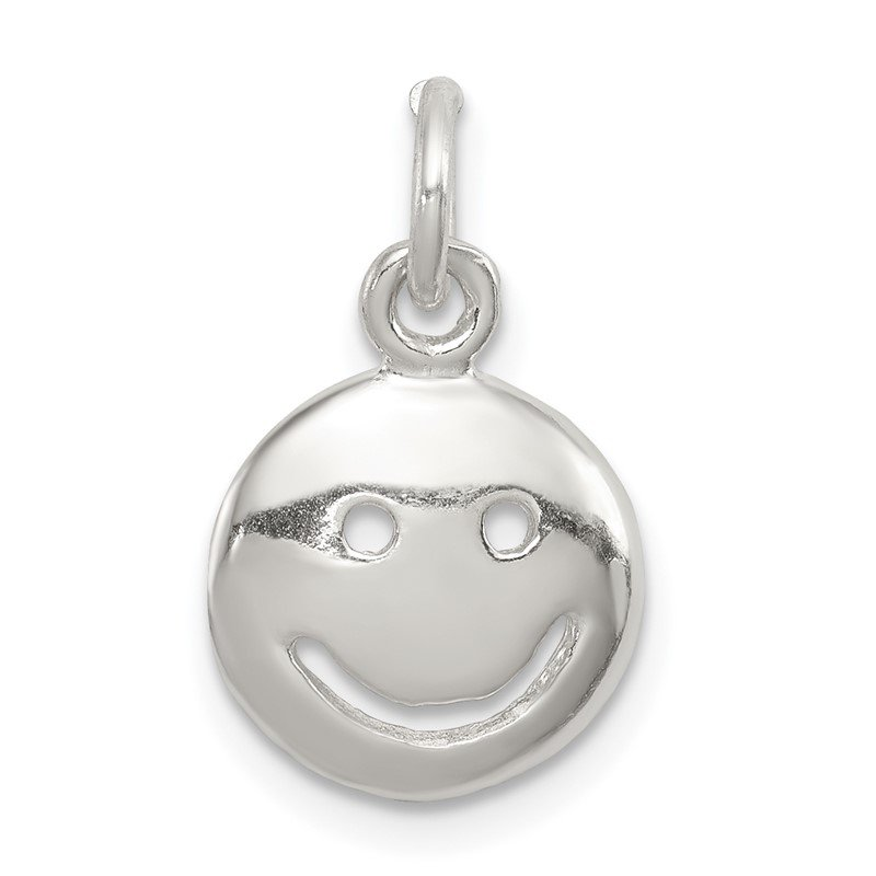 Quality Gold Sterling Silver Happy Face Charm