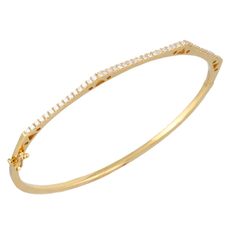 Doves Angled Diamond Bangle
