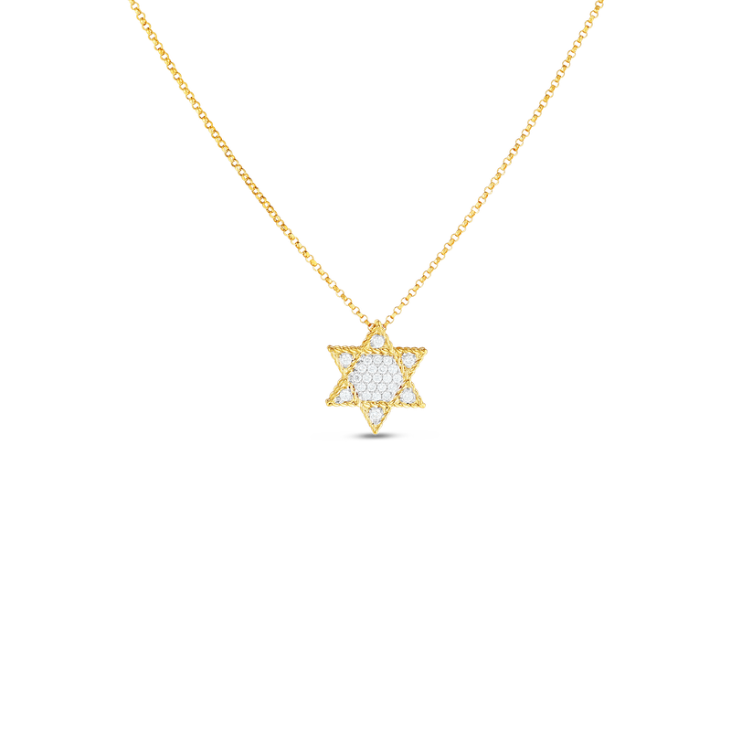Roberto Coin 18Kt Gold Princess Star Of David Pendant With Diamonds