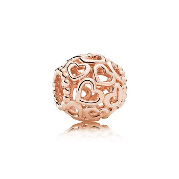Open Your Heart Filigree Charm, PANDORA Rose™
