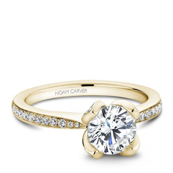 Noam Carver Floral Engagement Ring B019-01YA