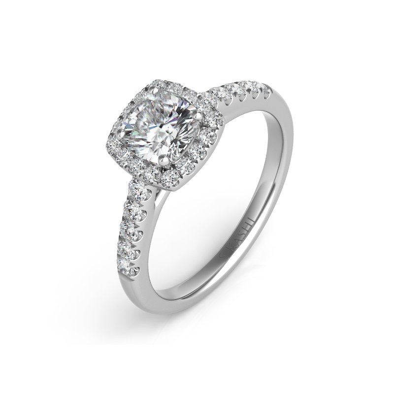 S. Kashi & Sons Bridal Palladium Halo Ring