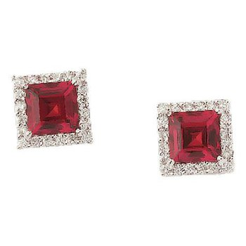 Ruby Earrings-CE2301WRU