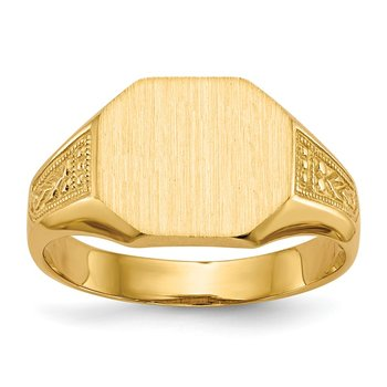 14k 9.0x11.0mm Open Back Signet Ring