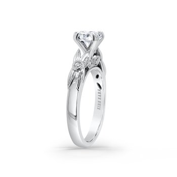 Kirk Kara 18K White Gold Diamond Floral Engagement Ring