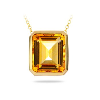 14K YG Citrine Necklace