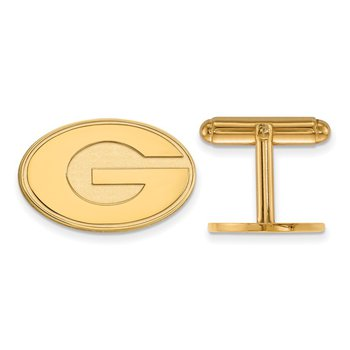 Gold-Plated Sterling Silver University of Georgia NCAA Cuff Links