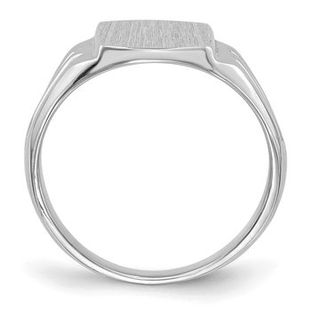 14k White Gold 9.5x8.0mm Closed Back Signet Ring
