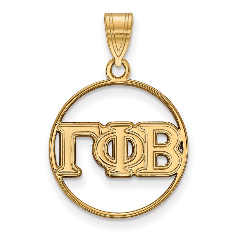Greek Life Gold-Plated Sterling Silver Gamma Phi Beta Greek Life Pendant
