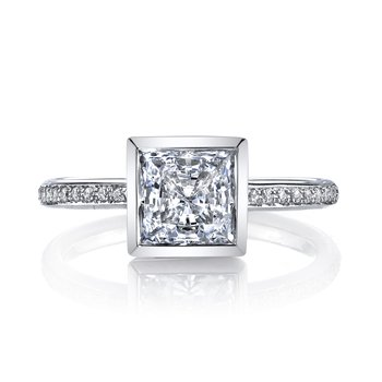 MARS 26707D Diamond Engagement Ring 0.12 Ctw.