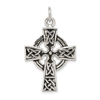 Sterling Silver Antiqued Celtic Cross Charm