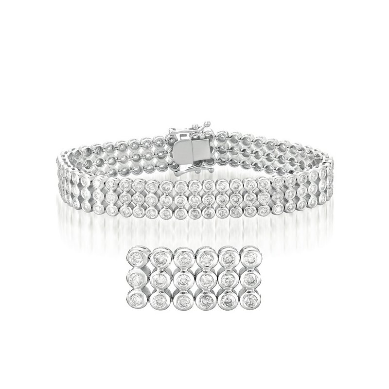 S. Kashi  & Sons Diamond Tube Bracelet