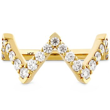 0.7 ctw. Triplicity Pointed Diamond Ring
