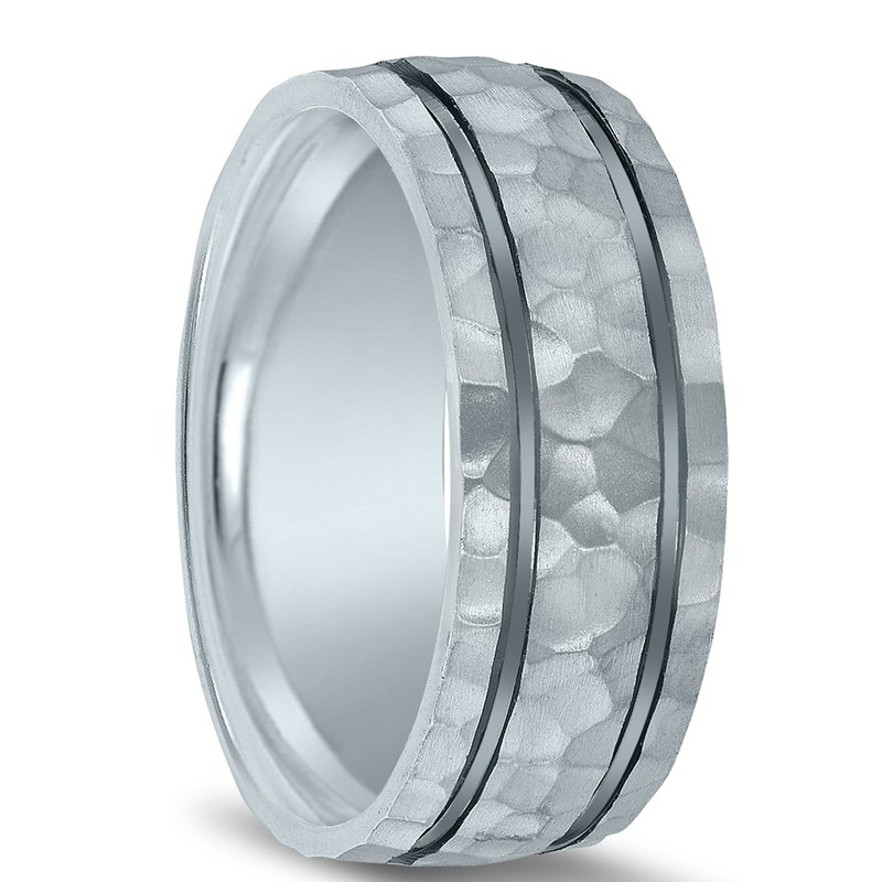 Men's Hammered Wedding Band - N16636 - Colors Collection