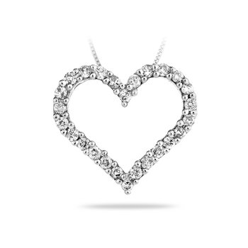 14K WG Diamond Heart Pendant