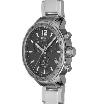 Tissot Quickster Anthracite Dial Men's Watch with Stainless Steel Bracelet