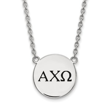 Sterling Silver Alpha Chi Omega Greek Life Necklace