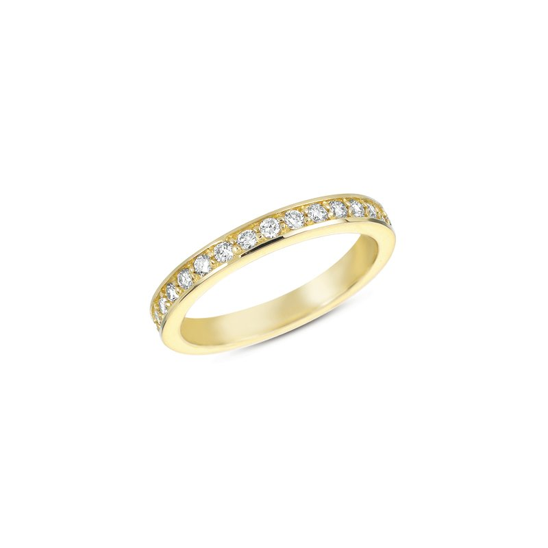 S. Kashi & Sons Bridal Yellow Gold Millgrain Band