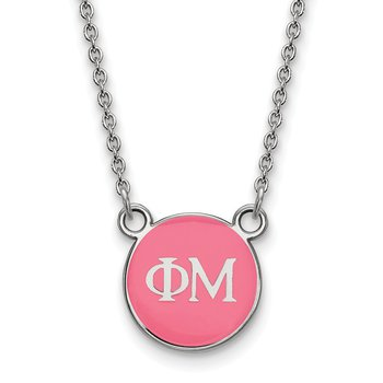 Sterling Silver Phi Mu Greek Life Necklace