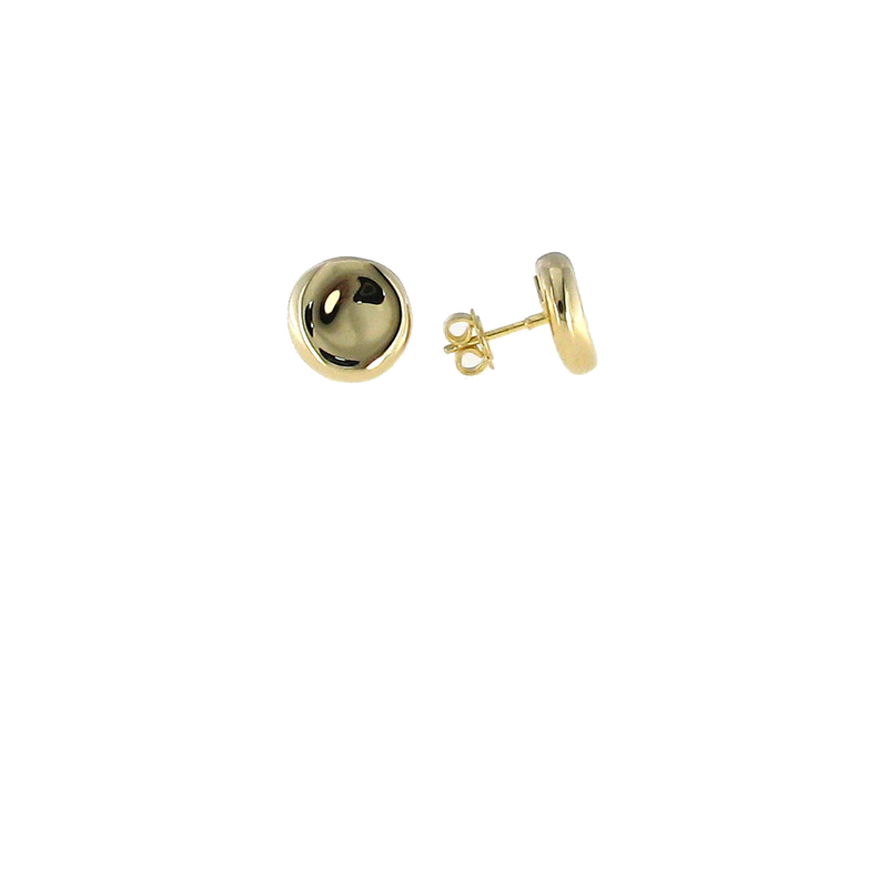 Roberto Coin 18Kt Gold Button Stud Earrings