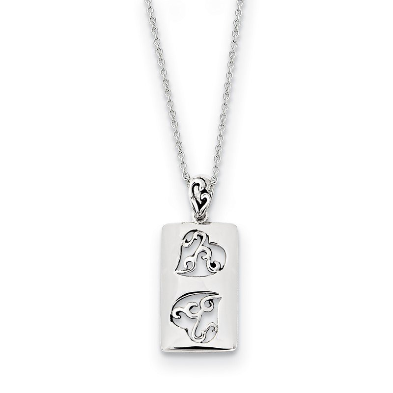 J.F. Kruse Signature Collection Sterling Silver Antiqued Girlfriends Two 18in Necklace
