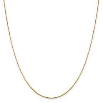 Leslie's 14K 1mm Sparkle Octagonal Box Chain