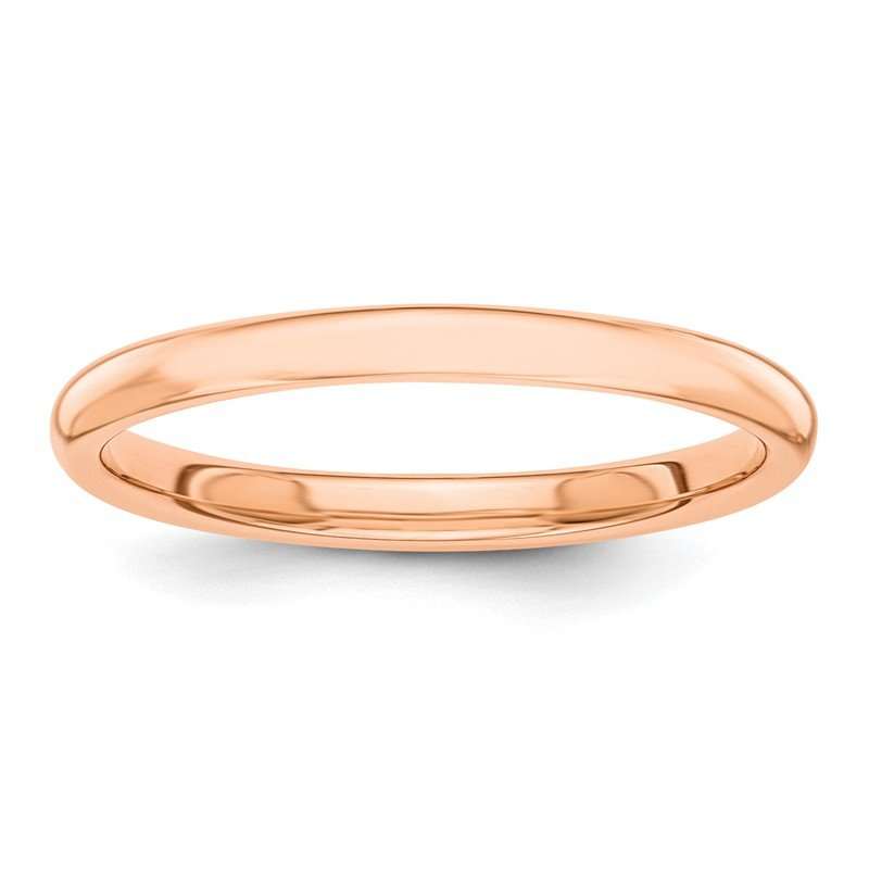 Quality Gold 14k Rose Gold Polished 2mm Band