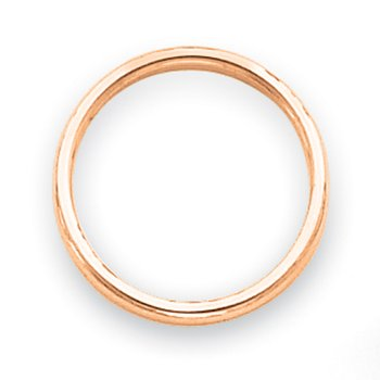 14k Rose Gold Polished 2mm Band