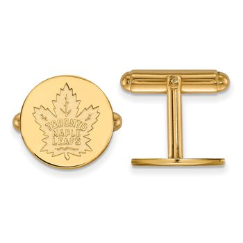 Gold-Plated Sterling Silver Toronto Maple Leafs NHL Cuff Links